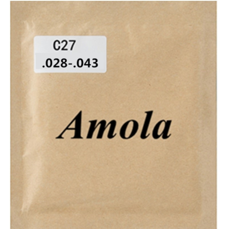 Amola Classical Guitar Strings set C27 .028-043 Normal Tension 1-6th 1/2 Student Nylon Guitar Accessories 6strings/set classical guitar strings set cgn10 classic nylon silver plated normal tension 028 045 classical guitar strings 6strings set