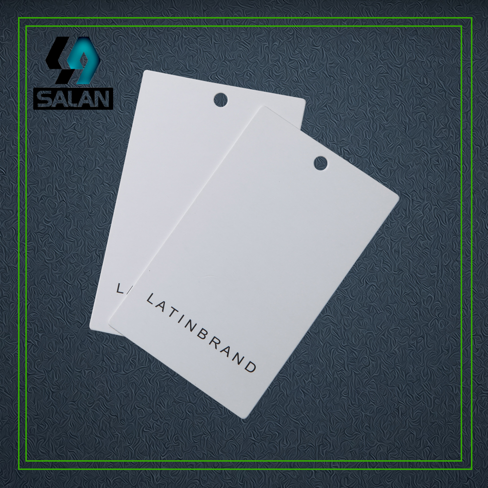 Customize 400gsm cardboard paper printed Hang tags for clothing product price Label luggage swing tag for gift business card