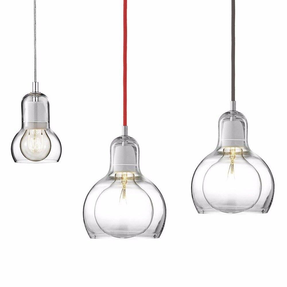 все цены на Modern Pendant Lights Amber/Clear/Grey Glass Lampshade Pendant Lamps E27 110V 220V for Dinning Room Home Decoration Lighting онлайн