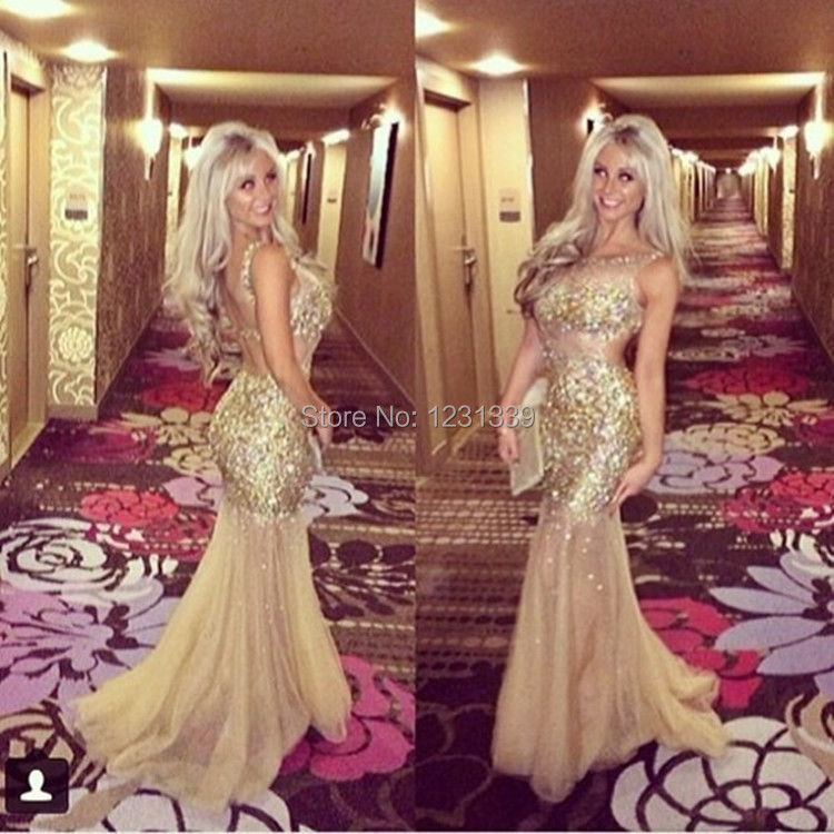 Aliexpress.com : Buy Sparkly Long Mermaid Prom Dresses 2015 ...