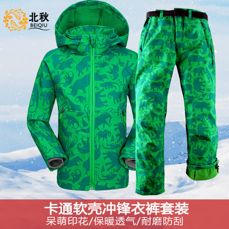 Winter Ski Suit Warm Waterproof Windproof Snowboard Sets Winter Jacket Kids Clothes Children Clothing Itakda Ang Snowboarding