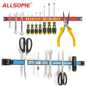 ALLSOME Magnetic Tool Holder Bar Organizer Storage Rack Tool With Strong Magnet Storage For Garage Workshop Metal Tools