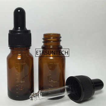 10ml Mini Refillable Empty Amber Scale Glass Aromatherapy Container Eye Dropper Essential Oil Bottle F1516