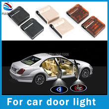 2x LED Car Door Welcome Light Laser Car Door Shadow led Projector Logo Batman Wireless Car Welcome Door For KIA Rio For All Car