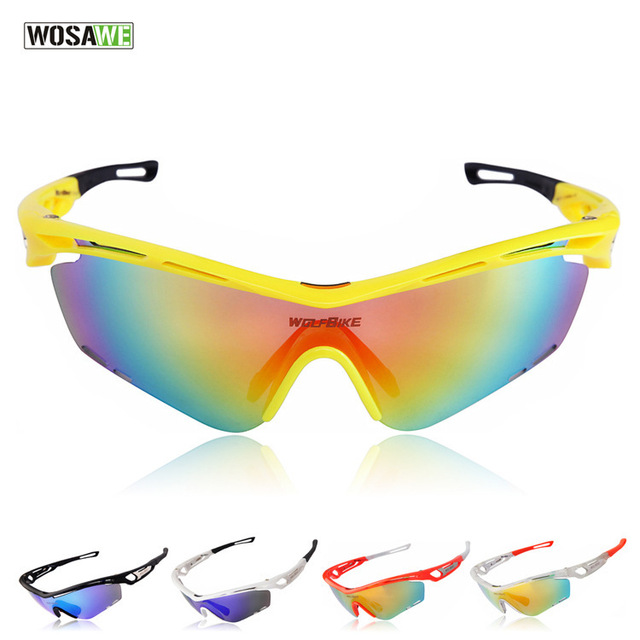 US $17.09 |WOSAWE Motorrad schutzbrille Outdoor Sportbrillen Radfahren Polarisierte Licht Spiegel Staubdicht Brillen Windschutz Gläser 3 sätze linsen