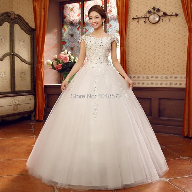38491b066d Vestidos de Boda elegantes 2017 Nuevo Apliques de Moda Vestido de La  Princesa Bola vestido Formal
