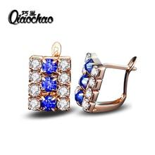 New Gold Jewelry Big Zircon Crystal Gold & Silver Plated Hoop Earrings for Women Luxury Wedding Bridal Jewelry