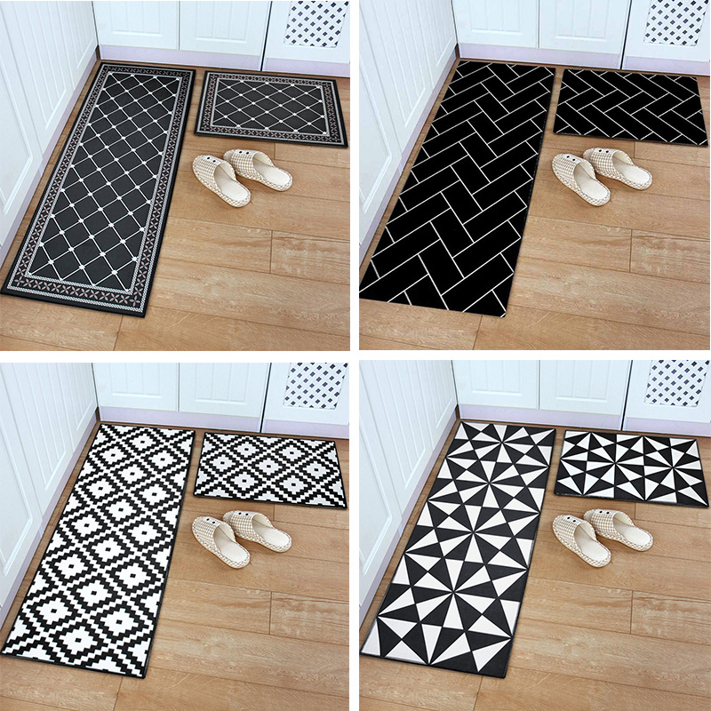 Washable Kitchen Mats with Anti Slip Bottom for Kitchen and Hallway Entrance Floor