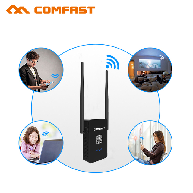 2.4GHZ + 5.8Ghz Original Wifi Repeater /AC wi-fi Router Mini 750 Mbps 802.11AC Range Extender Booster with WPS Encryption