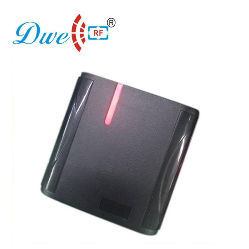 DWE CC RF access control card reader proximity 125khz WG34 waterproof rfid reader price with black color dwe cc rf wiegand26 125khz rfid id card tag keyfob reader waterproof access control wg26