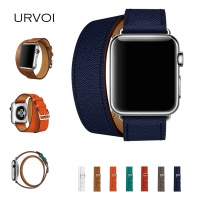 URVOI Double Tour For Apple Watch Series 3 2 1 Luxury Strap For Iwatch Belt High