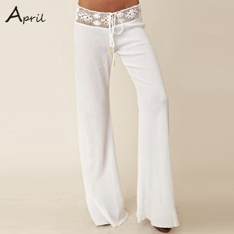 Popular White Trousers Women-Buy Cheap White Trousers Women lots ...