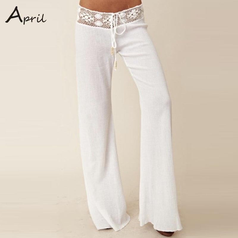 Womens White Trouser Pants