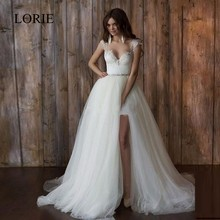 Vintage Lace Wedding Dresses With Detachable Skirt Sweetheart Backless Short Front Long Back Bridal Gown Robe de mariage 2017