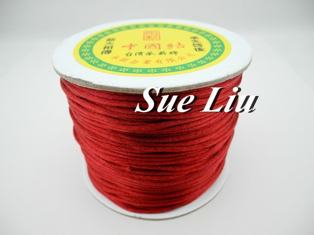 100yds 2mm Dk Red (#122) Rattail Satin Cord Chinese Knot Beading Cord: Nylon NCN6S