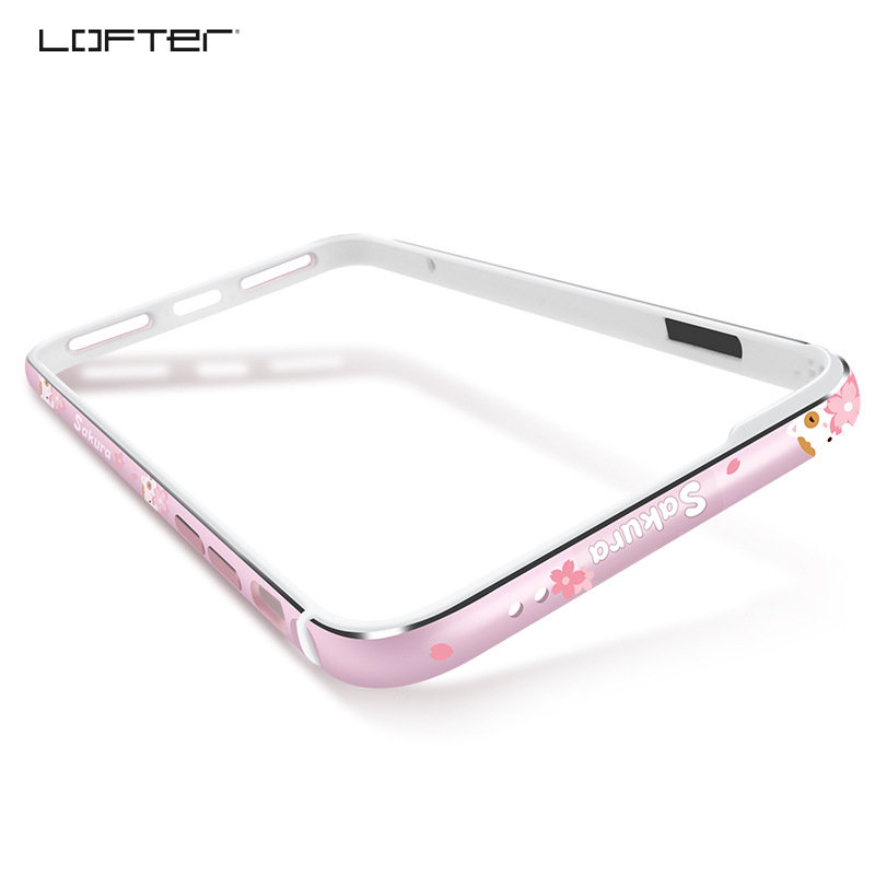LOFTER Floral Silicone Aluminum Bumper Case For iPhone 7 8 Plus Luxury Hard Metal Frame Soft Rubber Side Shockproof Coque in Phone Bumpers from Cellphones Telecommunications