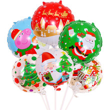 Santa Clause Snowman New Year Christmas Balloons Party Decoration Claus Tree Merry Foil Balloon Xmas
