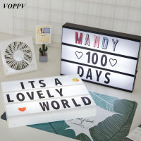 VOPPV LED Night Light Bedside Lamp for Bedroom LED Alphabet Card Lamp Holiday/ Festival Decor Christmas LED Night Hoilday Lamps
