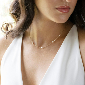 Image 2 - Boho collier femme kolye jóias boho colar feminino colar de prata colar de ouro feito à mão pérola natural enchido/925 gargantilha de prata