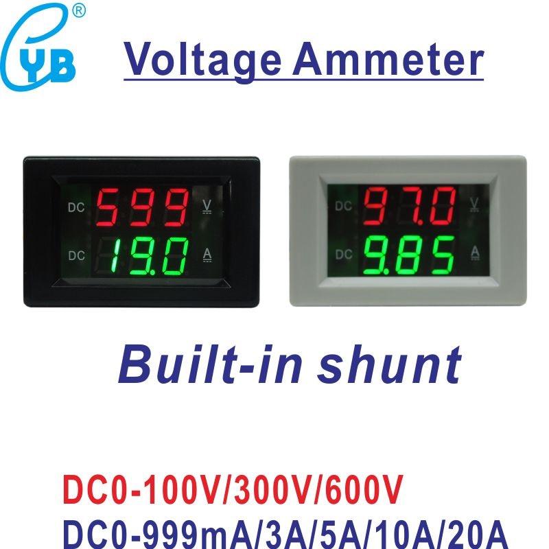 30V 0-999mA DC Voltmeter Ammeter LED Dual display Amp Volt Meter Gauge 1A