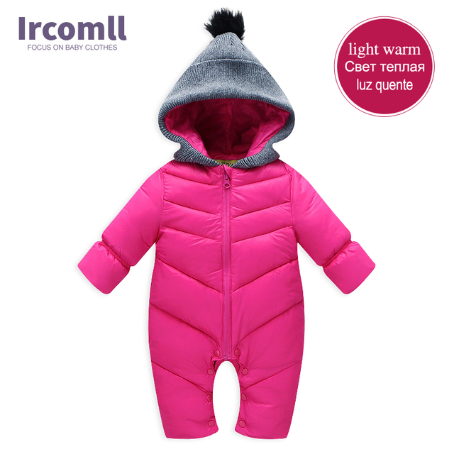 2017 New Winter Baby Rompers Warm and Soft Baby Rompers Newborn Baby Clothes Infant Down Cotton Winter Thickening Clothing 0-18M