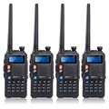 4 UNIDS UV-5X BAOFENG UHF + VHF de Banda Dual/Dual Watch-Two Way Radio FM Walkie Talkie + 4x Auricular