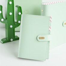 Yiwi Cuaderno en espiral de cuero sintético Macaron, planificador diario, organizador de Agenda Personal, carpeta de anillas A5 A6, 30mm