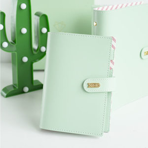 Image 1 - Yiwi Macaron PU Leather Spiral Notebook Original Office Personal Diary Planner Agenda Organizer Cute 30mm Ring Binder A5 A6