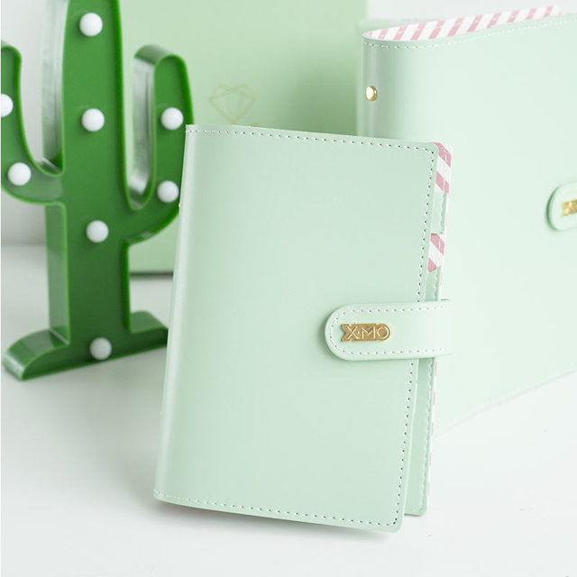 Yiwi Macaron PU Leather Spiral Notebook Original Office Personal Diary Planner Agenda Organizer Cute 30mm Ring Binder A5 A6
