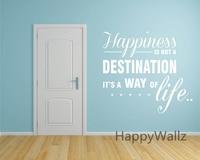 Le bonheur est Un Mode De Vie Motivation Vie Quote Wall Sticker BRICOLAGE Décoratif Inspirée Citation de La Vie Bureau Sticker Q132