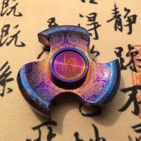 Fidget Spinners Metal Adult Tri Hand Spinner Gyro Spinning Top Stress Relief EDC Beyblade Finger Toys