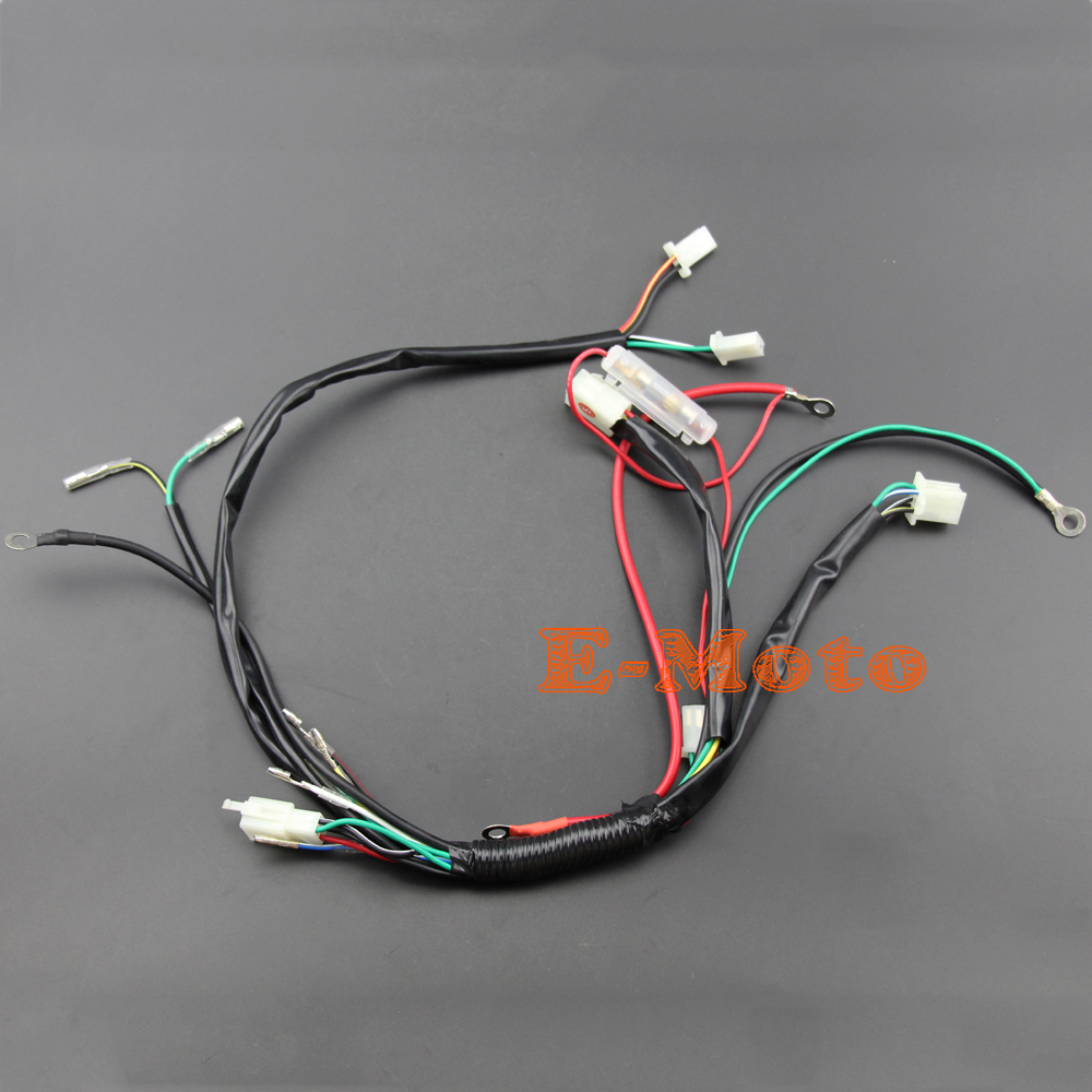 Full Wiring Harness Loom Solenoid Coil Regulator C7HSA Spark Plug 50 70cc 90cc 110cc 125cc Dirt full wiring harness loom solenoid coil regulator c7hsa spark plug wiring harness loom at bayanpartner.co