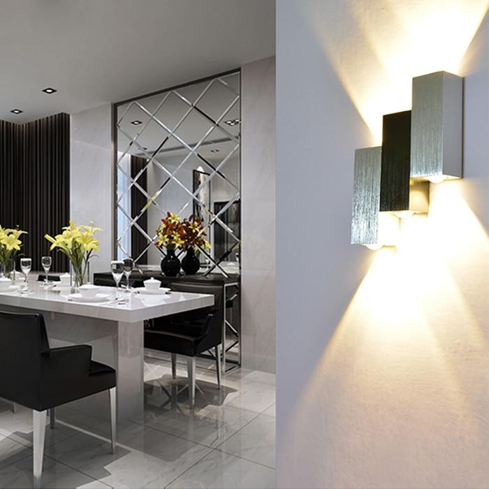 6W Sipërfaqja Sconce e montuar Llambë LED mur brenda shtëpie - Ndriçimit të brendshëm - Foto 3