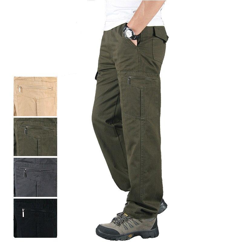 KEGZEIR automne hiver travail tactique pantalon hommes décontracté militaire homme pantalon Long kaki noir Cargo pantalon Broek Mannen