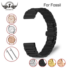 Stainless Steel Watch Band for Fossil 16mm 18mm 20mm 22mm Quick Release + Butterfly Buckle Metal Strap Belt Wrist Loop Bracelet stainless steel watch band 20mm 22mm for diesel quick release metal watchband strap wrist loop belt bracelet black silver gold