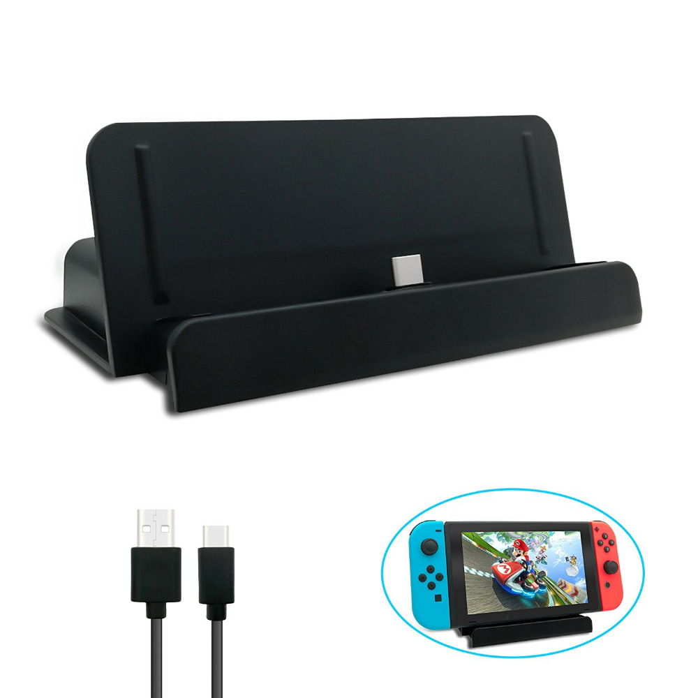 Video Game Console Charging Stand for Nintend Switch Charger Stand USB Type C Charging Dock Station Cradle Stand Console Holder