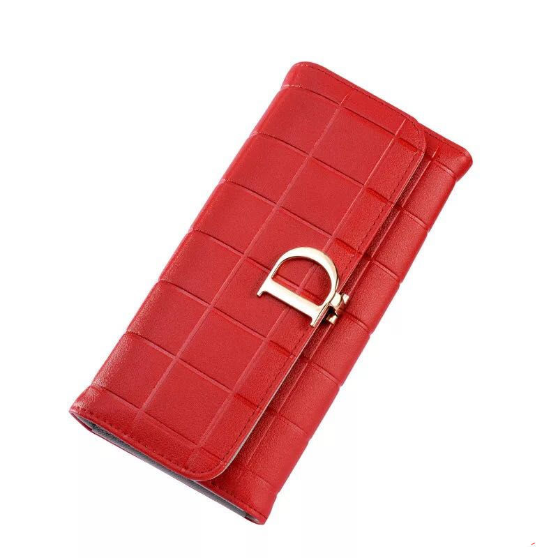Purse Wallets Clutch Plaid Female Double-Zipper Long Fashion Women Ladies 10-Card-Holder