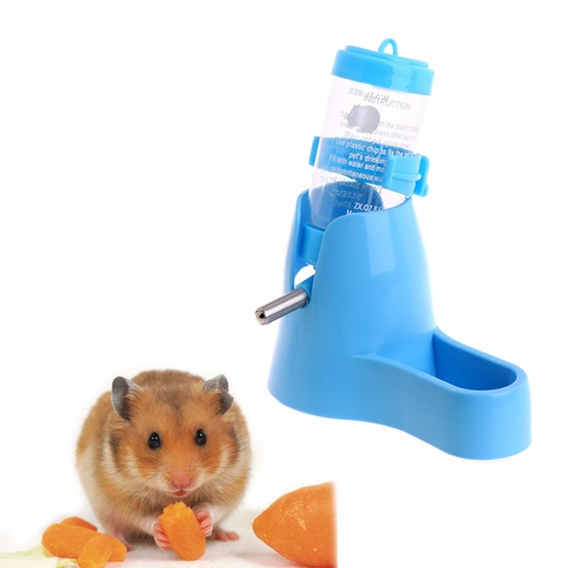 3 in 1 Pet Hamster Water Bottle With Food Container 5