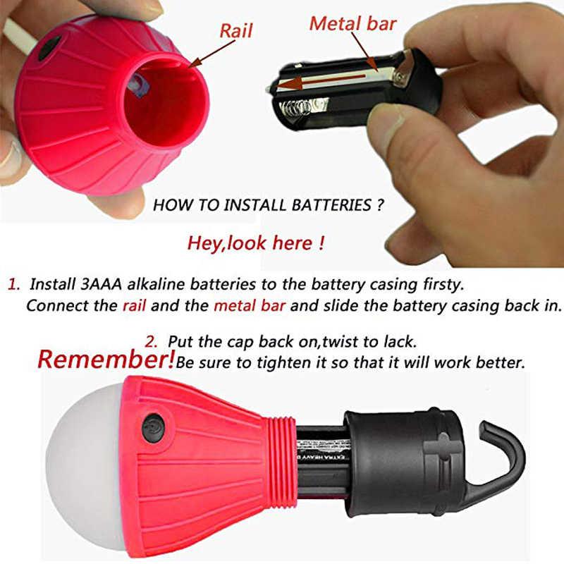 Подвесной крючок для кемпинга, Мини Портативный тент, водонепроницаемая лампа, 3 * AAA, время освещения батареи 12 часов