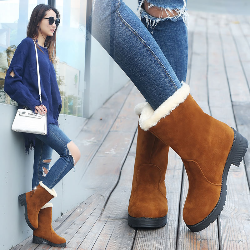 Quality Woman Boots Round Toe Yarn Elastic Ankle Boots Thick Heel Flat Heels Shoes Woman Female Socks Boots 2018 Winter xiuningyan women s boots round toe elastic ankle boots thick heel high heel shoe woman female fashion stretch socks boots winter