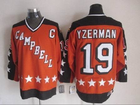 be0555b3 Authentic 19 Steve Yzerman 1984 hockey league all star jerseys cheap  detroit red wings jersey/shirt Campbell Conference S-3XL