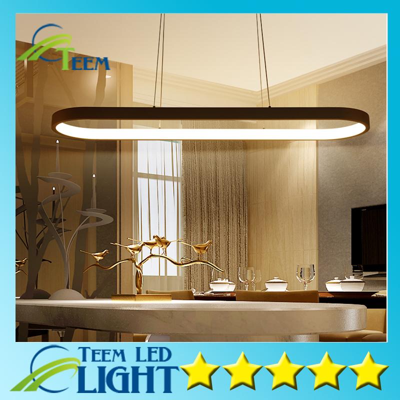 nueva creativa moderna led luces de techo de cocina de acrlico metal suspensin lmpara colgante