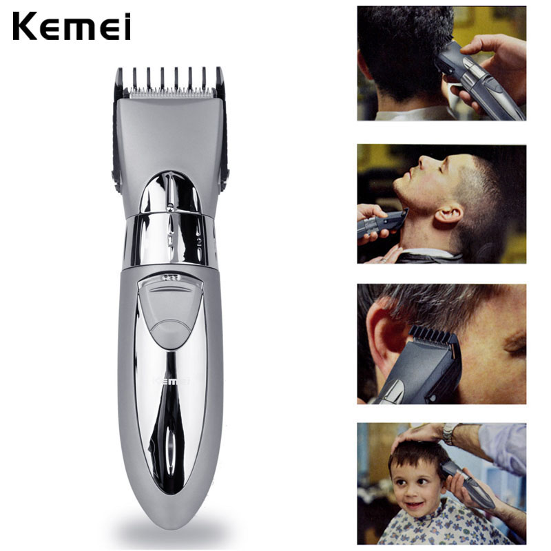 Kemei Haircut Machine Rechargeable Hair Trimmer Shaver Razor Hair Clipper Trimmer Beard Men Hair Cutting Clipper Electric Shaver luxury brand gold watches women quartz dress watches fashion ladies stainless steel rhinestone crystal analog wristwatches ac026
