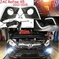 Carro-styling, JAC S5 luz diurna, 2012 ~ 2016, Preto/Prata, DIODO EMISSOR de luz, Livre navio livre! 2 pcs, carro-detector, JAC S5 luz de nevoeiro, carro-cobre, JAC S5, JAC5