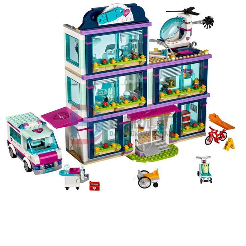 StZhou Lepin Friends Girl Series 932pcs Building Blocks toys Heartlake Hospital kids Bricks toy girl gifts Compatible Legoe lepin 01040 friends girl series 514pcs building blocks toys snow resort chalet kids bricks toy girl gifts lepin bricks 41323