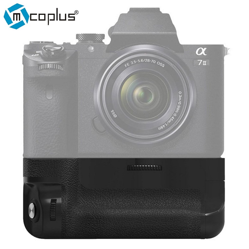 Mcoplus BG-A7II Vertical Battery Grip for Sony A7 mark II A7ii A72 as Sony VG-C2EM Meike MK-A7II yixiang pro vertical battery grip for canon eos 7d2 7d mark ii 2 as bg e16
