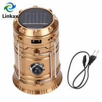 Rechargeable Solar Camping Lantern 300 Lumens 2 LED Light Source Poweful Portable Camping Lanterns Outdoor Tent Light Lamp