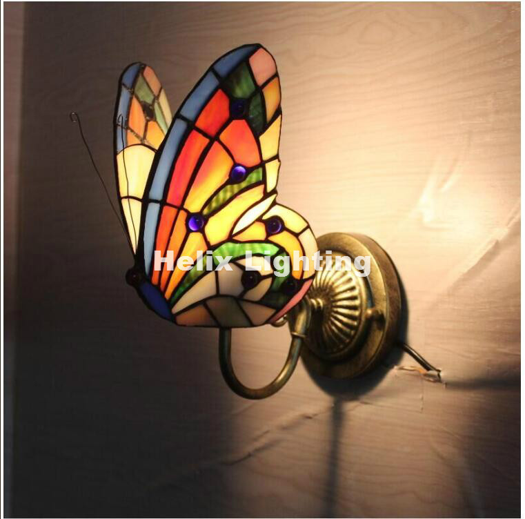 Free Shipping Newly Bohemia Wall Lamp, Buttefly Design Shades Wall Mounted Light For Balcony Bedroom, Corridor E14 AC Wall Lamp 1 piece free shipping anodizing aluminium amplifiers black wall mounted distribution case 80x234x250mm