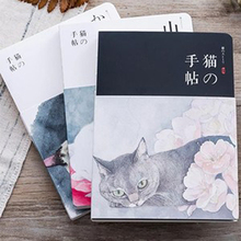 New Blank Vintage Sketchbook Diary Drawing Painting 80 Sheets Cute Cat Notebook Paper Sketch Book Office School Supplies Gift недорго, оригинальная цена