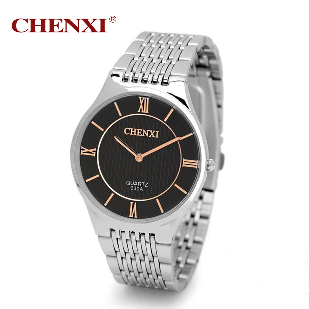 CHENXI Mens Watches Top Brand Luxury Men Stainless Steel Wristwatches Ultra Thin Dial Clock Men Quartz-Watch erkek kol saati chenxi men gold watch male stainless steel quartz golden men s wristwatches for man top brand luxury quartz watches gift clock